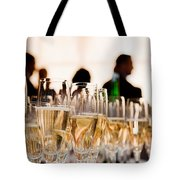 Champagne Glasses At The Party Tote Bag