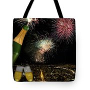 Champagne Toast With San Francisco Skyline At Night Tote Bag