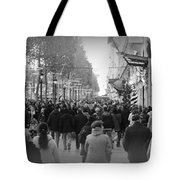 Champs Elysees Black N White Tote Bag