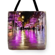 Champs Elysees In Pink Tote Bag