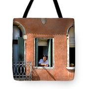 Chance Meeting In Venice Tote Bag