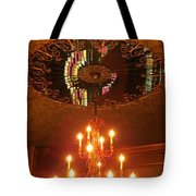 Chandelier At The Brown Palace In Denver Tote Bag