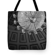 Chandelier-black And White Tote Bag