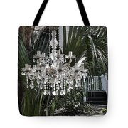 Chandelier In The Garden Tote Bag