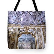 Chandelier Inside Chateau De Chantilly Tote Bag