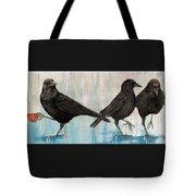 Crow Takes Tea Tote Bag