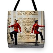 Change Of Guards Ceremony Dolmabahce Istanbul Turkey Tote Bag