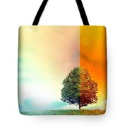 Change Of The Seasons - The Moment When Summer Meets With Fall Tote Bag