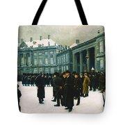 Changing Of The Guard At Amalienborg Palace Tote Bag