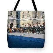 Changing Of The Horse Guard  Tote Bag