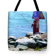 Channel Fishing Tote Bag