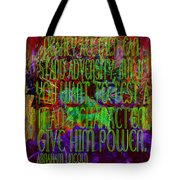 Chaos And Power Tote Bag