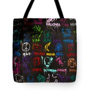 Chaos In Colors Tote Bag
