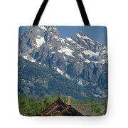 1m9335-chapel And Grand Teton Tote Bag