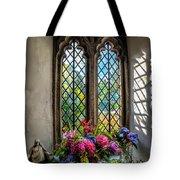 Chapel Flowers Tote Bag