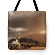 Chapel In The Storm Tote Bag