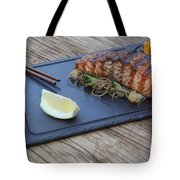 Char Grilled Salmon Tote Bag