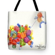 Characters In Balloon Tote Bag