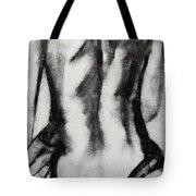 Charcoal Back Tote Bag