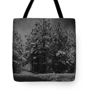 Charcoal Snowfall Tote Bag