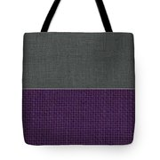 Charcoal With Purple Tote Bag