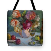 Chardonnay And Roses Tote Bag