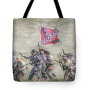 Charge Of The Virginia Regiment At Gettysburg Tote Bag