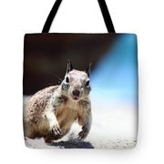 Charging Ground Squirrel Tote Bag
