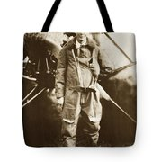 Charles A. Lindbergh And Spirit Of St. Louis May 12 1927 Tote Bag