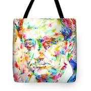 Charles Baudelaire Watercolor Portrait.1 Tote Bag