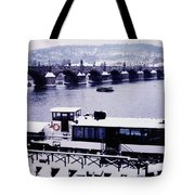 Charles Bridge In Winter Tote Bag