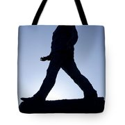Charles De Gaulle Statue Silhouette On The Champs Elysees In Paris France Tote Bag