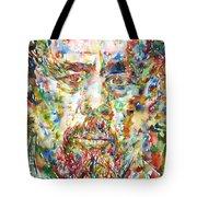 Charles Mingus Watercolor Portrait Tote Bag