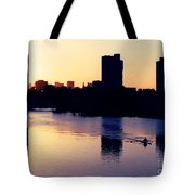 Charles River Rower At Dawn Tote Bag by Kenny Glotfelty