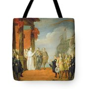 Charles V Leaving The Town Of Dort Tote Bag