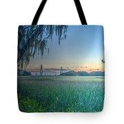 Charleston Bridge View Tote Bag