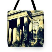 Charleston Church In Black And White Tote Bag