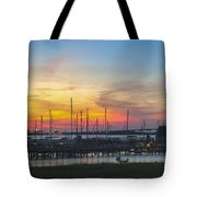 Charleston Harbor Sunset Tote Bag