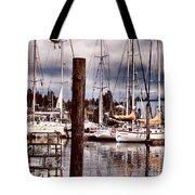 Charleston Marina At The End Of The Day Tote Bag