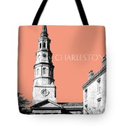 Charleston St. Phillips Church - Salmon        Tote Bag