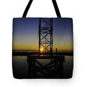 Charleston Water Sunset Tote Bag