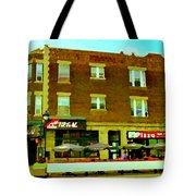 Charlevoix Pizza Et Chic Regal Rue Centre Scenes De Rue Pointe St Charles City Scenes Carole Spandau Tote Bag