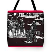 Charlie Chaplin On Location With His Camera Crew Shooting The Gold Rush 1925-2009  Tote Bag