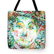 Charlie Chaplin - Watercolor Portrait Tote Bag