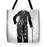 Charlie Chaplin Typography Poster Tote Bag
