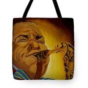 Charlie Parker-legends Of Jazz Tote Bag