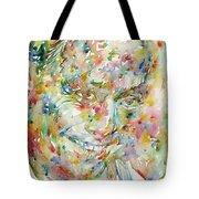 Charlie Parker Watercolor Portrait Tote Bag