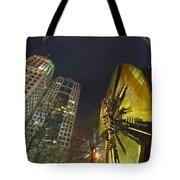 Charlotte Downtown At Night Tote Bag