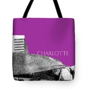 Charlotte Nascar Hall Of Fame - Plum North Carolina Tote Bag