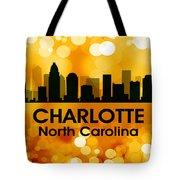 Charlotte Nc 3 Tote Bag by Angelina Vick